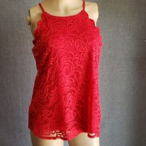 New A byer scalloped Juniors lace tank size M